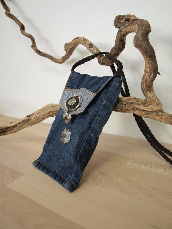 sac denim pour telephone portable