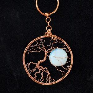 Arbre de vie en cuivre et pierre de lune